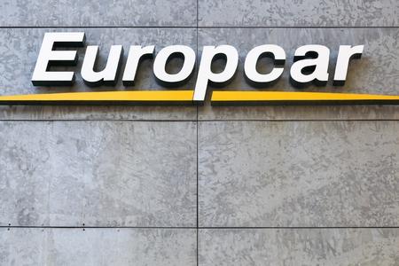 Aarhus Denmark October 25 2015 Europcar Logo On Wall Europcar
