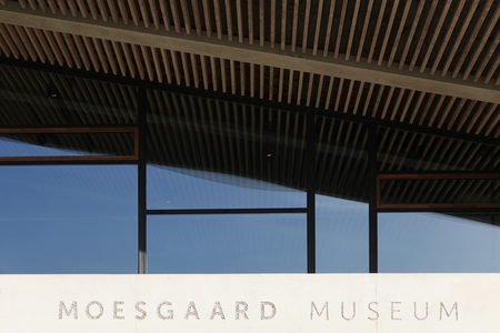 archeology: Aarhus, Denmark - October 23, 2015: Moesgaard museum is situated at Moesgaard manor in Hojbjerg, a suburb of Aarhus, Denmark. It is a museum dedicated for archeology and ethnography. Editorial
