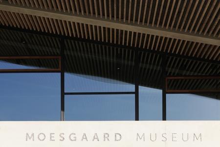 ethnography: Aarhus, Denmark - October 23, 2015: Moesgaard museum is situated at Moesgaard manor in Hojbjerg, a suburb of Aarhus, Denmark. It is a museum dedicated for archeology and ethnography. Editorial