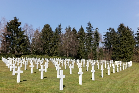 patton: Graves at the American military cemetery in Sandweiler, Luxembourg