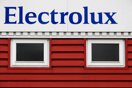 multinational: Aarhus, Denmark - November 7, 2015: Electrolux is a multinational appliance manufacturer, headquartered in Stockholm, Sweden Editorial