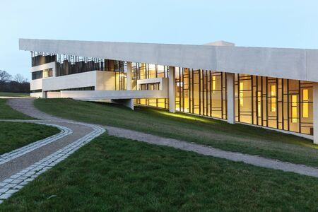 Aarhus, Denmark - November 18, 2015: Moesgaard museum is situated at Moesgaard manor in Hojbjerg, a suburb of Aarhus, Denmark. It is a museum dedicated for archeology and ethnography
