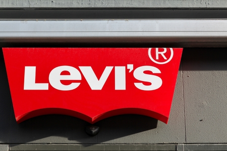 levis: Aarhus, Denmark - November 8, 2015: Levi Strauss founded in 1853, is a privately held American clothing company known worldwide for its Levis  brand of denim jeans