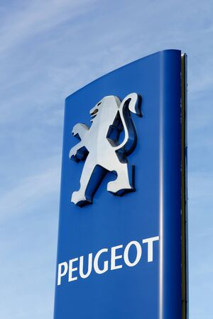 psa: Skanderborg, Denmark - September 6, 2015: Peugeot is a French cars brand, part of PSA Peugeot Citroen group  and Peugeot company was founded in 1810
