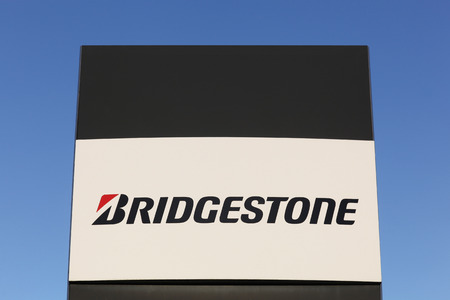 Aarhus, Denmark - December 13, 2015: Bridgestone is a multinational auto and truck parts manufacturer founded in 1931 and one of the largest manufacturer of tires in the world