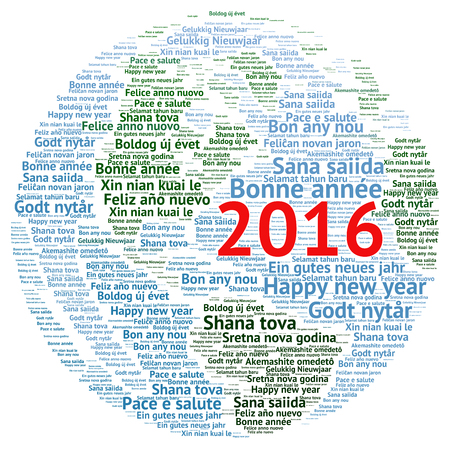 spanish language: Happy New Year 2016 in different languages