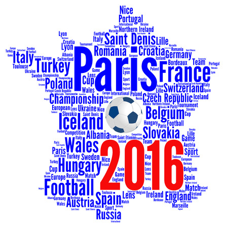 euro sign: France Euro 2016 football illustration Stock Photo