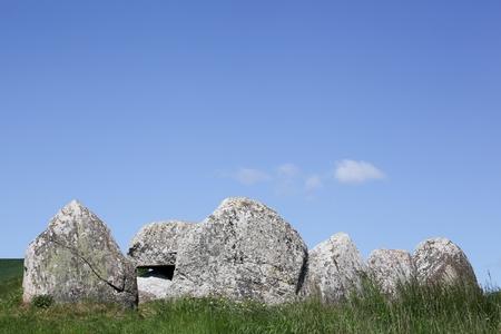 stoneage: Poskaer Stenhus, Viking grave burial site on Mols region in Denmark
