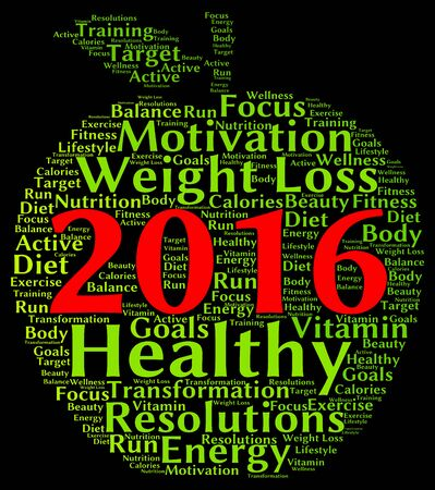 resolutions: Resolutions 2016 health word cloud