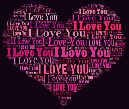 i love you heart: I Love you heart illustration