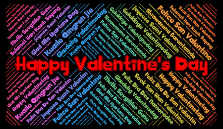 english textures: Happy Valentines Day in different languages word cloud