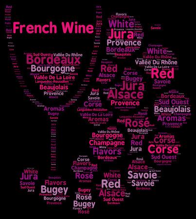 Franse wijnen word cloud concept
