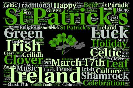 saint patrick's day: Happy Saint Patricks day concept word cloud