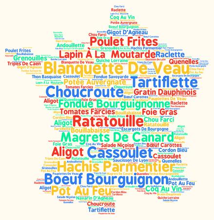 Variété de cuisine française typique Banque d'images