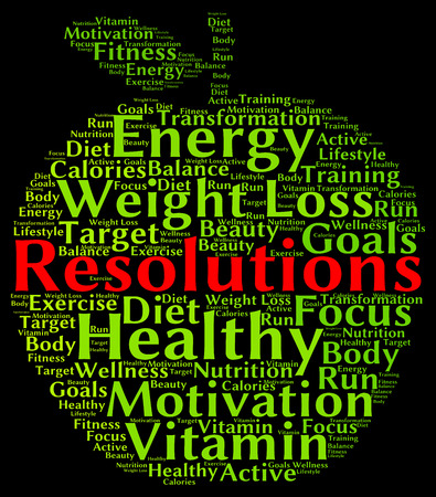 resolutions: Resolutions health word cloud
