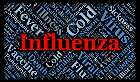 influenza: Influenza word cloud concept Stock Photo