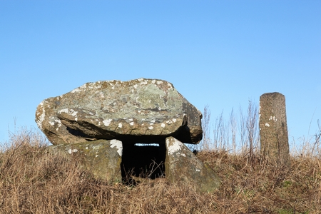 megaliths: Ancient stone tomb near Aarhus in Denmark Stock Photo