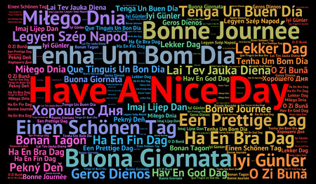 positive note: Have a nice day in different languages