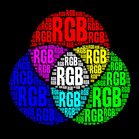 rgb: RGB color model Stock Photo