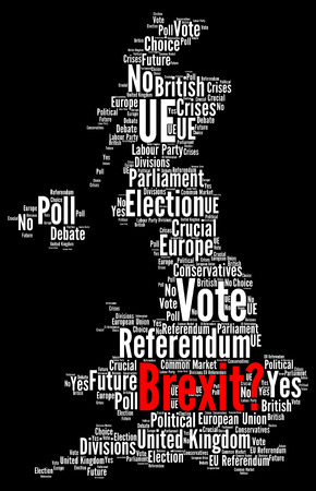 Brexit word cloud concept