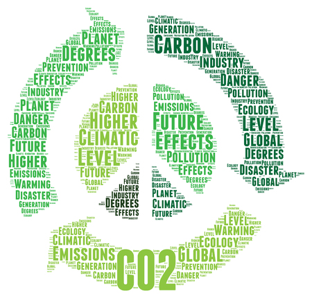 toxic cloud: CO2 word cloud concept