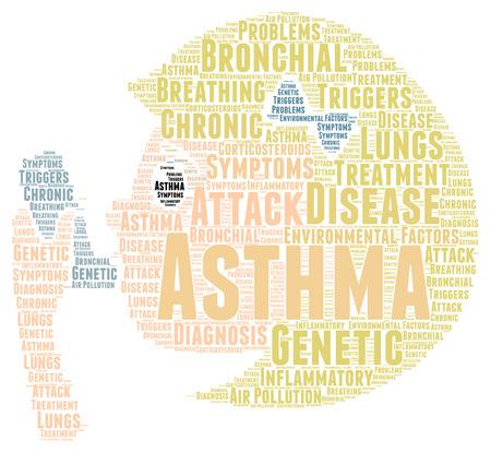 asthma: Asthma word cloud concept Stock Photo