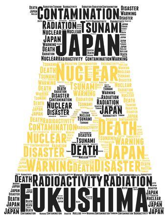fukushima: Fukushima word cloud concept