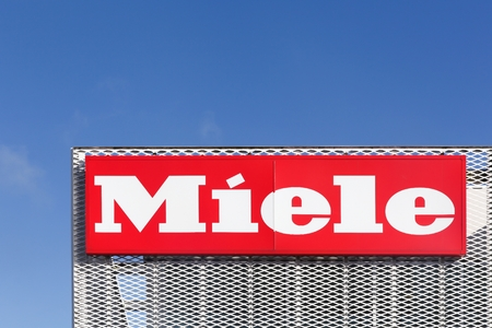 domestic appliances: Vejle, Denmark - February 28, 2016: Miele is a German based manufacturer of high-end domestic appliances, commercial equipment and fitted kitchens, based in Germany