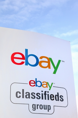 paypal: Aarhus, Denmark - February 12, 2016: Ebay is an American multinational corporation and e-commerce company, providing consumer to consumer and business to consumer sales services via the internet Editorial