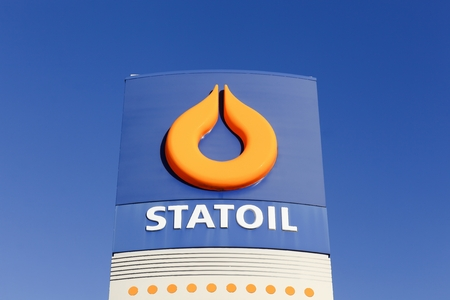 headquartered: Aarhus, Denmark - December 13, 2015: Statoil logo on a gas station. Statoil ASA is a Norwegian multinational oil and gas company headquartered in Stavanger, Norway Editorial