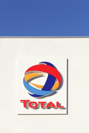 Lyon, France - January 26, 2015: Total is a french multinational integrated oil and gas company and one of the six supermajor oil companies in the world