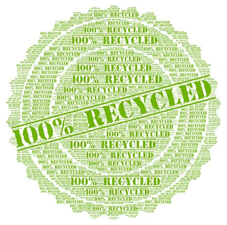 recycled: 100% recycled Stock Photo