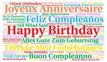 Buon compleanno in diverse lingue