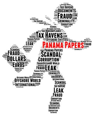 bandera de panama: Panam� documentos nube de palabras