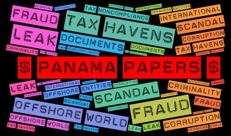bandera de panama: Panamá documentos nube de palabras