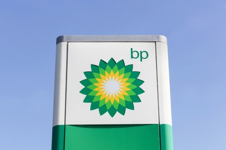 bp: Macon, France - March 22, 2016: BP also name British Petroleum, is one of the worlds six biggest oil and gas companies. It is a British multinational company, headquartered in London, England Editorial