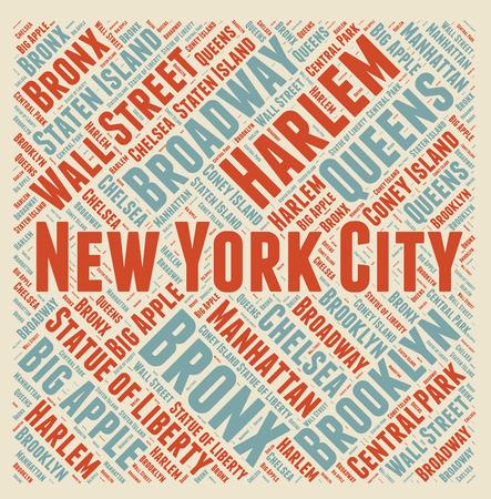 bronx: New York City word cloud Stock Photo