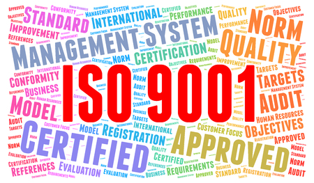 ISO 9001 certified concept