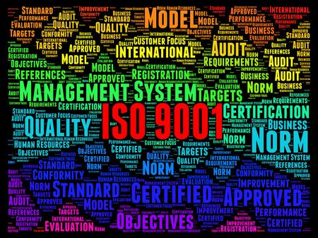 ISO 9001 gecertificeerd begrip Stockfoto - 55945967