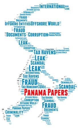 bandera panama: Panam� concepto de nube de palabras papeles Foto de archivo