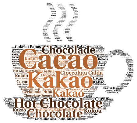 Hot chocolate word cloud in different languages Zdjęcie Seryjne