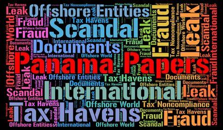 bandera de panama: Panamá concepto de nube de palabras papeles Foto de archivo