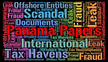 entities: Panama papers word cloud concept