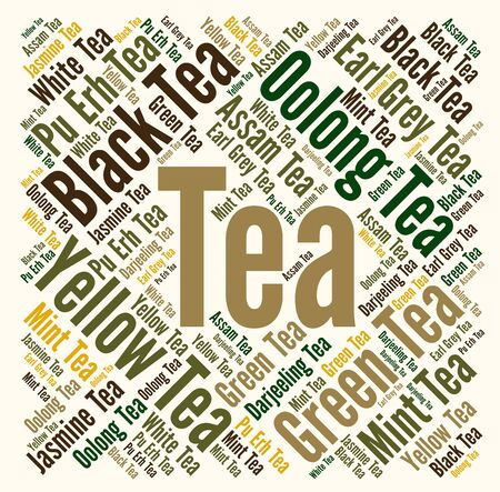 oolong: Tea word cloud concept Stock Photo