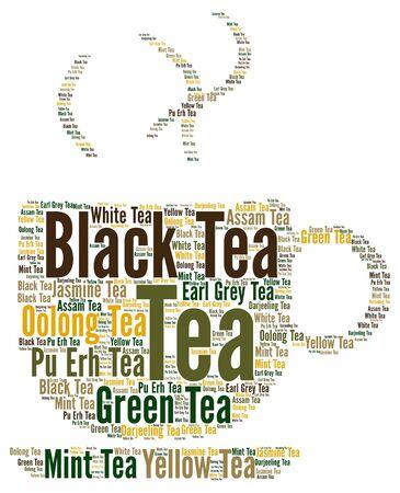 oolong: Tea word cloud concept Stock Photo