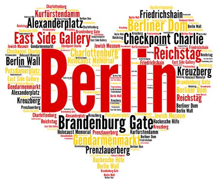 charlie: Berlin word cloud Stock Photo