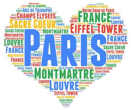 montmartre: Paris word cloud