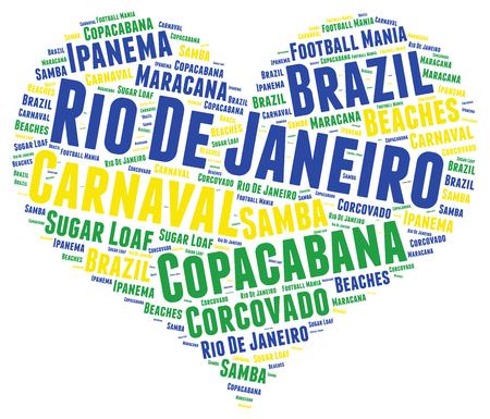 corcovado: Rio de Janeiro word cloud