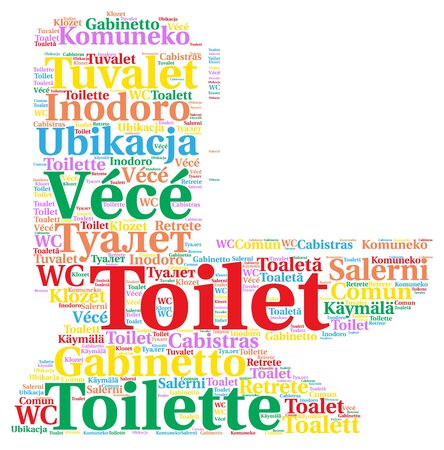 directions bathroom  Toilet in different languages word cloud. Directions Bathroom Images   Stock Pictures  Royalty Free