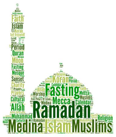cloud: Ramadan word cloud concept